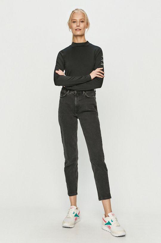Reebok - Tričko s dlhým rukávom čierna