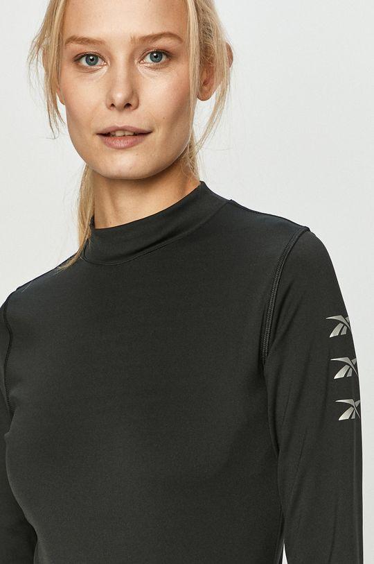 čierna Reebok - Tričko s dlhým rukávom