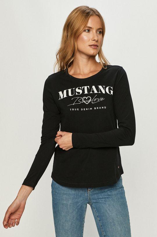 negru Mustang - Longsleeve De femei