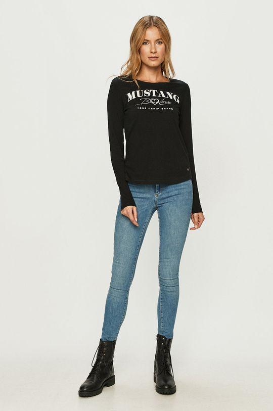 Mustang - Longsleeve negru
