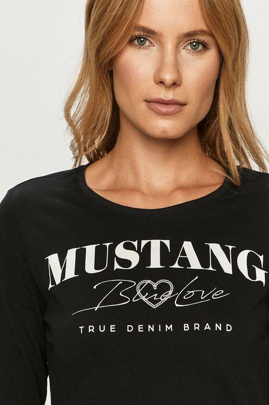 negru Mustang - Longsleeve