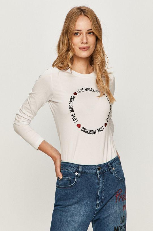bílá Love Moschino - Tričko s dlouhým rukávem Dámský