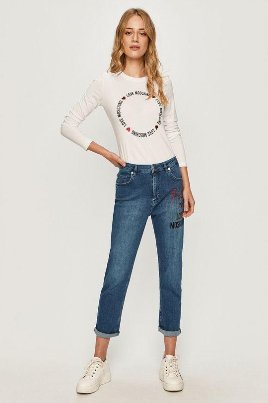 Love Moschino - Tričko s dlouhým rukávem bílá