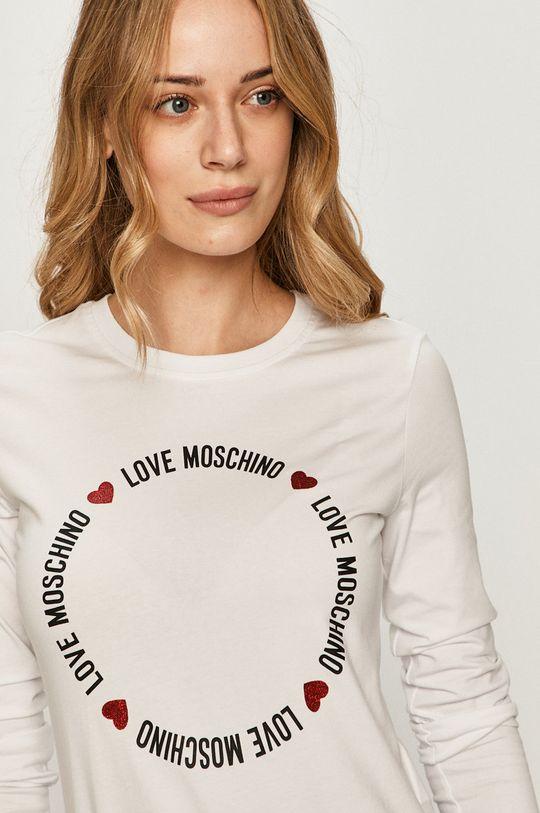 bílá Love Moschino - Tričko s dlouhým rukávem