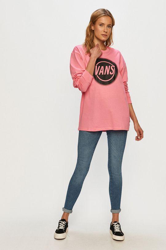 Vans - Tričko s dlhým rukávom ružová