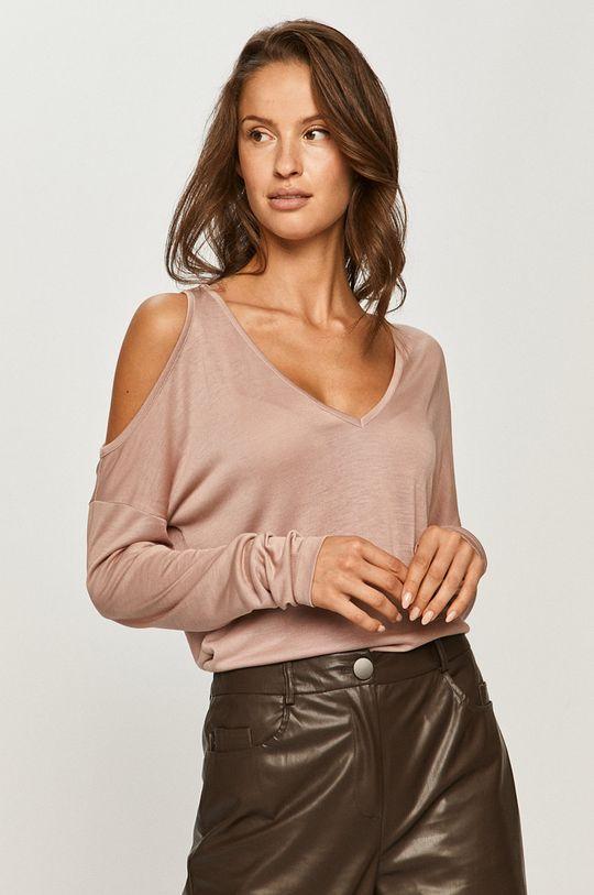 roz pastelat Pepe Jeans - Longsleeve Cora De femei