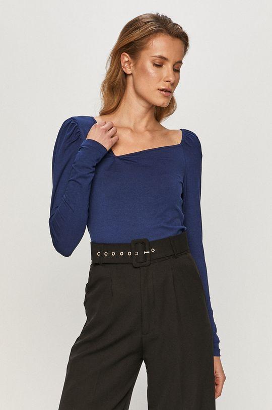 modrá Vero Moda - Tričko s dlhým rukávom Dámsky
