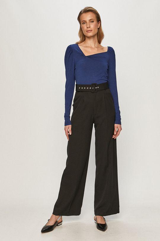 Vero Moda - Tričko s dlhým rukávom modrá