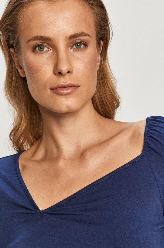 modrá Vero Moda - Tričko s dlhým rukávom