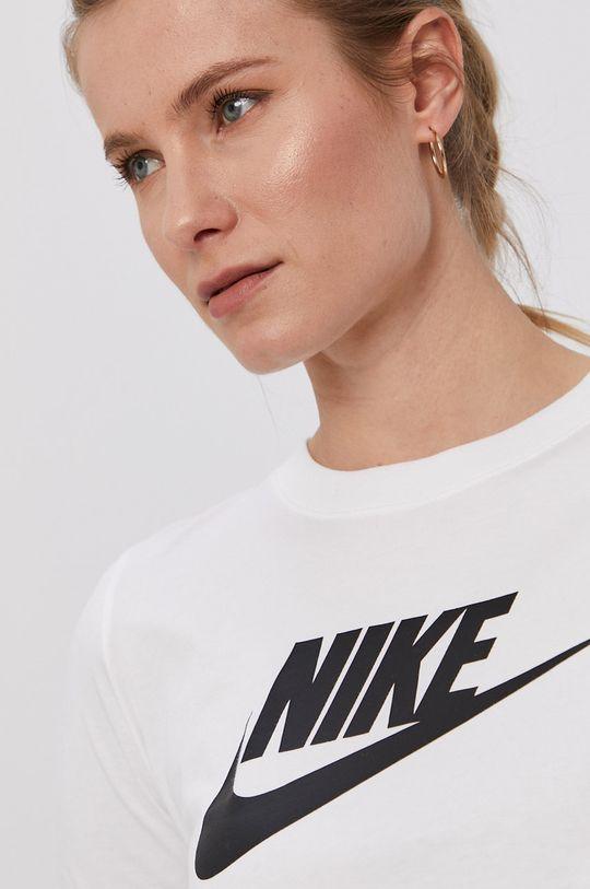 krémová Nike Sportswear - Tričko s dlhým rukávom Dámsky