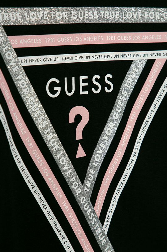 Guess Jeans - Longsleeve copii 116-176 cm negru