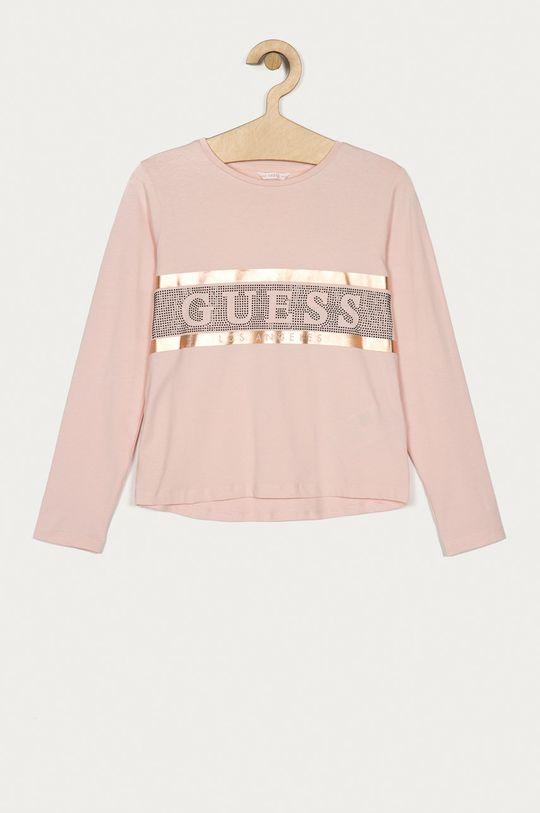 roz Guess Jeans - Longsleeve copii 116-176 cm De fete