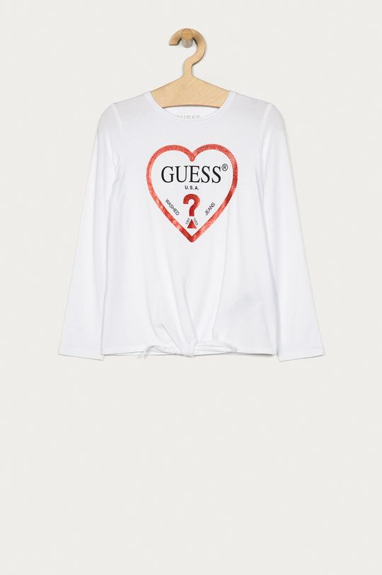 alb Guess Jeans - Longsleeve copii 116-175 cm De fete
