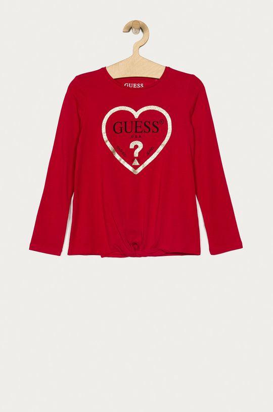 roz ascutit Guess Jeans - Longsleeve copii 116-175 cm De fete