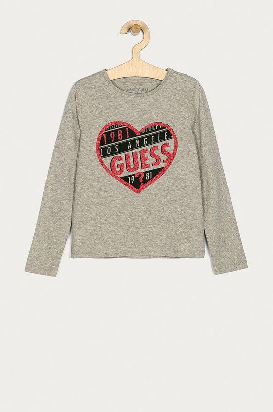 šedá Guess Jeans - Dětské tričko s dlouhým rukávem 116-176 cm Dívčí