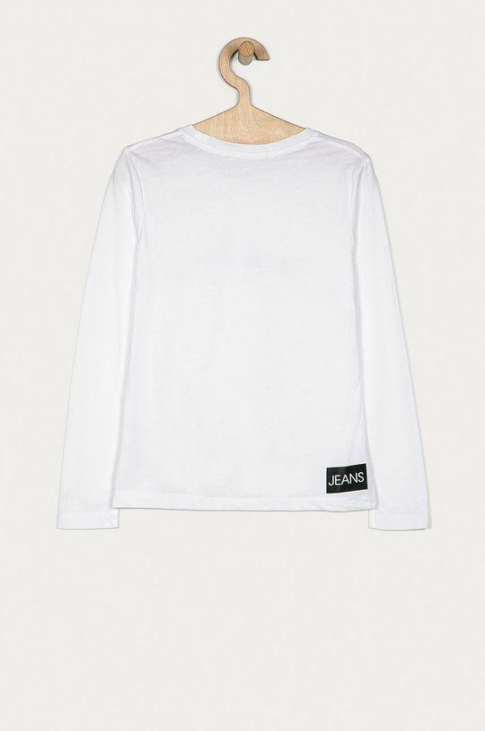 Calvin Klein Jeans - Longsleeve copii 104-176 cm alb