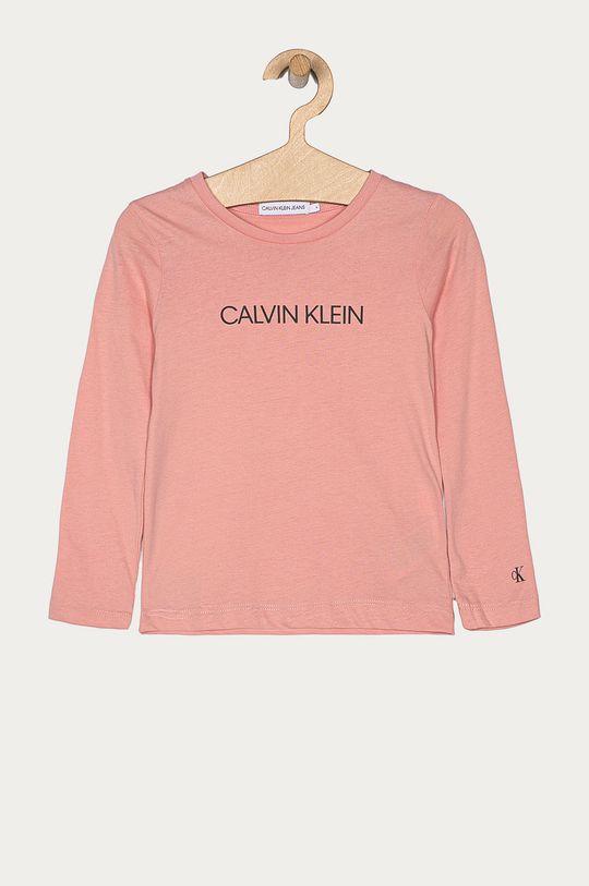 roz Calvin Klein Jeans - Longsleeve copii 104-176 cm De fete