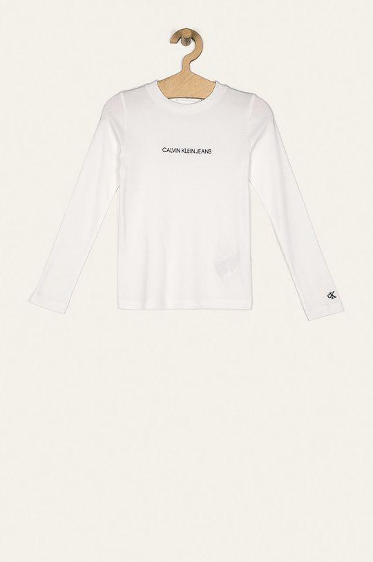 biały Calvin Klein Jeans - Longsleeve dziecięcy 128-176 cm Dziewczęcy