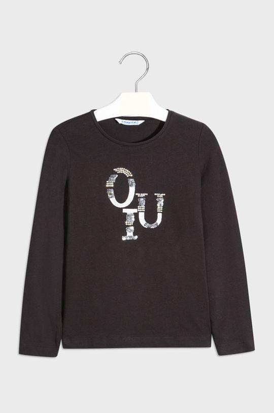 čierna Mayoral - Detské tričko s dlhým rukávom 128-167 cm Dievčenský