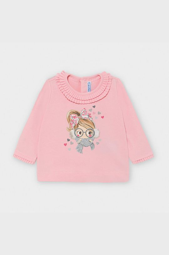 рожевий Mayoral - Дитячий лонгслів 68-98 cm Для дівчаток