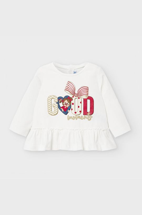 krémová Mayoral - Detské tričko s dlhým rukávom 68-98 cm Dievčenský