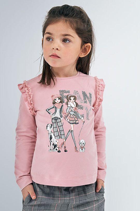 ružová Mayoral - Detské tričko s dlhým rukávom 92-134 cm Dievčenský