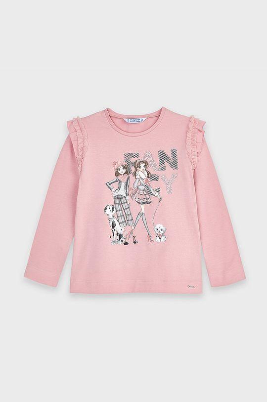 Mayoral - Detské tričko s dlhým rukávom 92-134 cm ružová