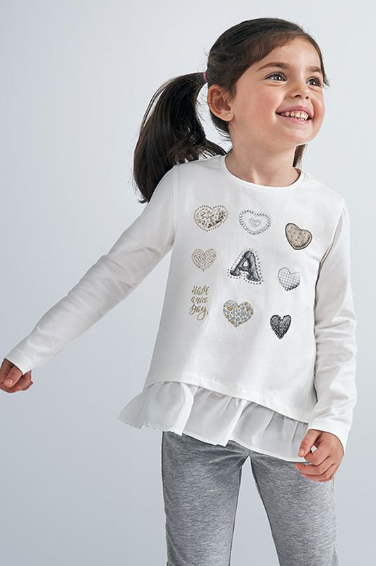 білий Mayoral - Дитячий лонгслів 92-134 cm Для дівчаток
