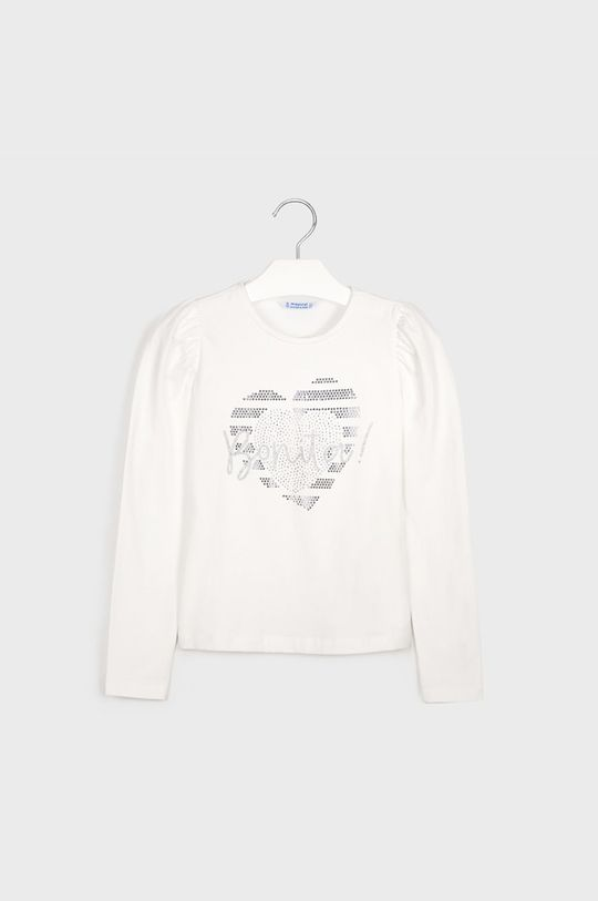 Mayoral - Detské tričko s dlhým rukávom 128-167 cm krémová
