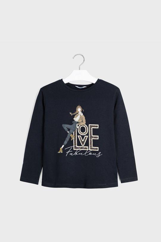 tmavomodrá Mayoral - Detské tričko s dlhým rukávom 128-167 cm Dievčenský