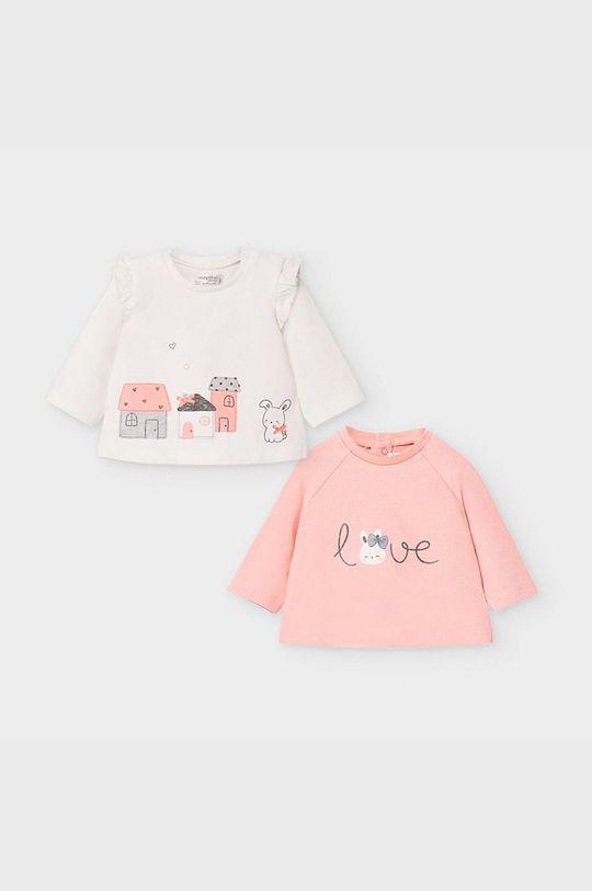 staroružová Mayoral Newborn - Detské tričko s dlhým rukávom 60-86 cm (2-pak) Dievčenský