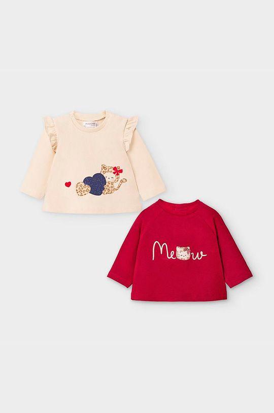 gaštanová Mayoral Newborn - Detské tričko s dlhým rukávom 60-86 cm (2-pak) Dievčenský