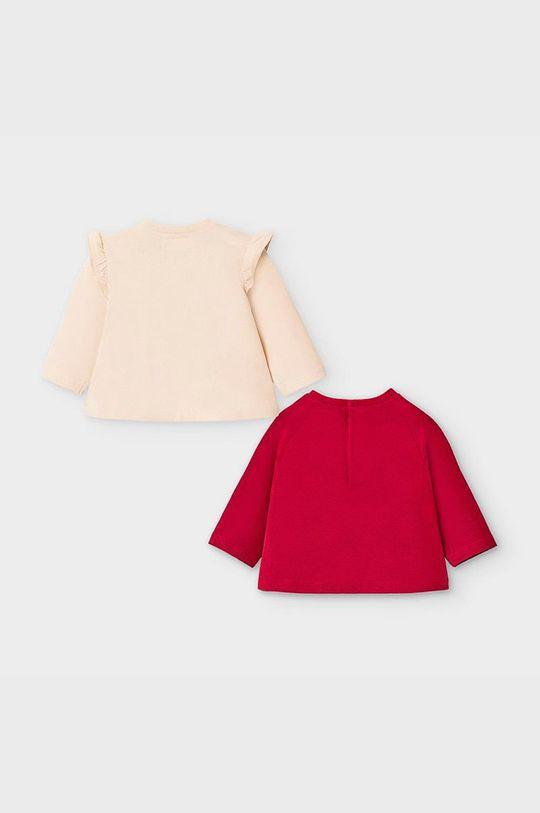 Mayoral Newborn - Detské tričko s dlhým rukávom 60-86 cm (2-pak) gaštanová