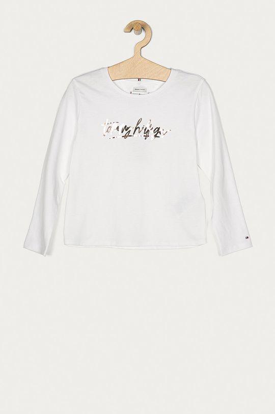 bílá Tommy Hilfiger - Tričko s dlouhým rukávem Dívčí