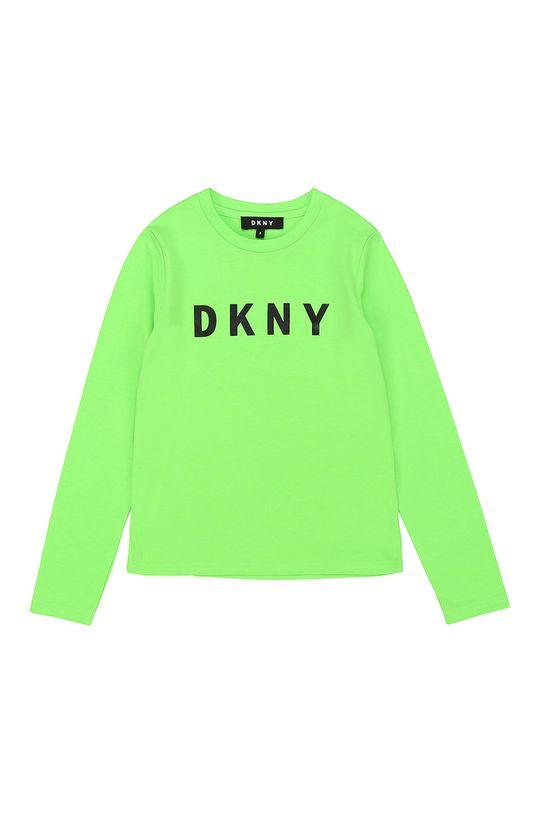 žlutě zelená Dkny - Dětské tričko s dlouhým rukávem Dívčí