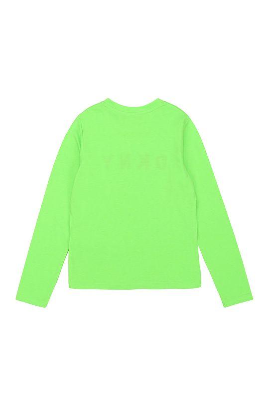 Dkny - Dětské tričko s dlouhým rukávem žlutě zelená