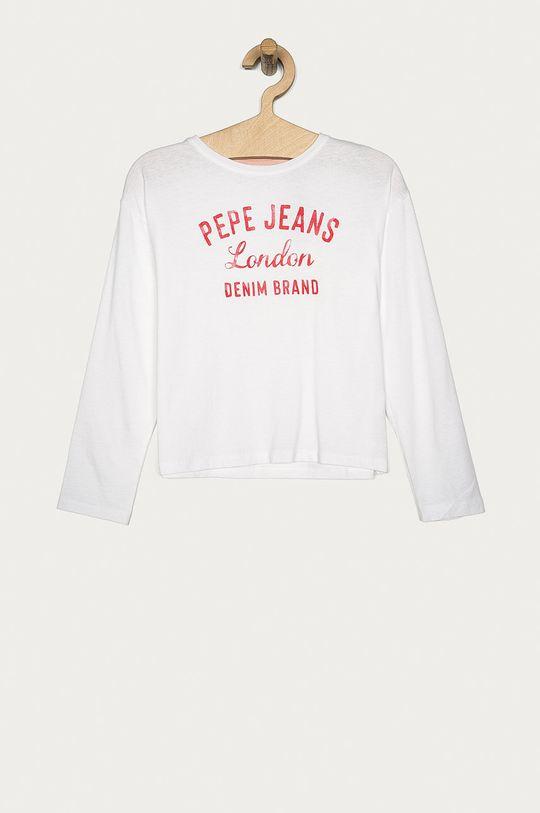 alb Pepe Jeans - Longsleeve copii Ciara 128-176 cm De fete