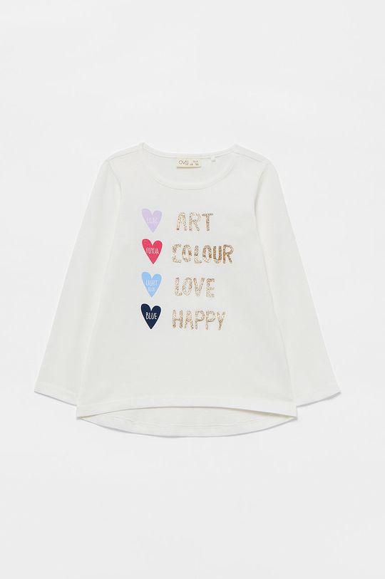 bílá OVS - Dětské tričko s dlouhým rukávem Dívčí