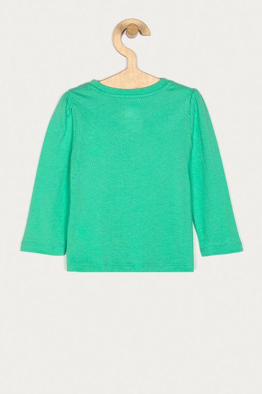 GAP - Detské tričko s dlhým rukávom 74-110 cm zelená
