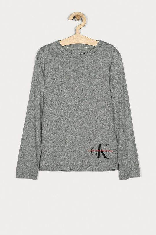 světle šedá Calvin Klein Underwear - Dětské tričko s dlouhým rukávem 128-176 cm Dětský