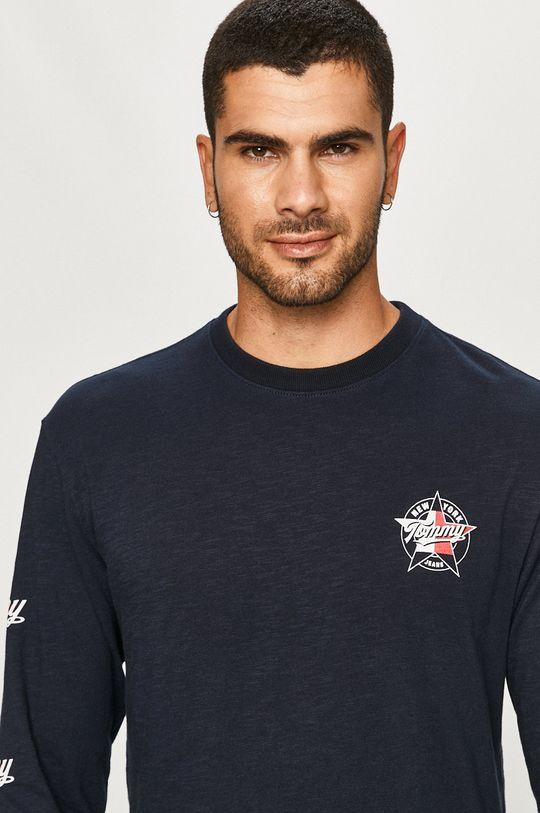 tmavomodrá Tommy Jeans - Tričko s dlhým rukávom