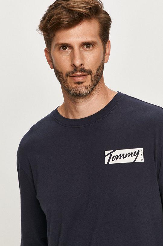 tmavomodrá Tommy Jeans - Tričko s dlhým rúkavom