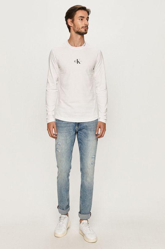 Calvin Klein Jeans - Tričko s dlouhým rukávem bílá
