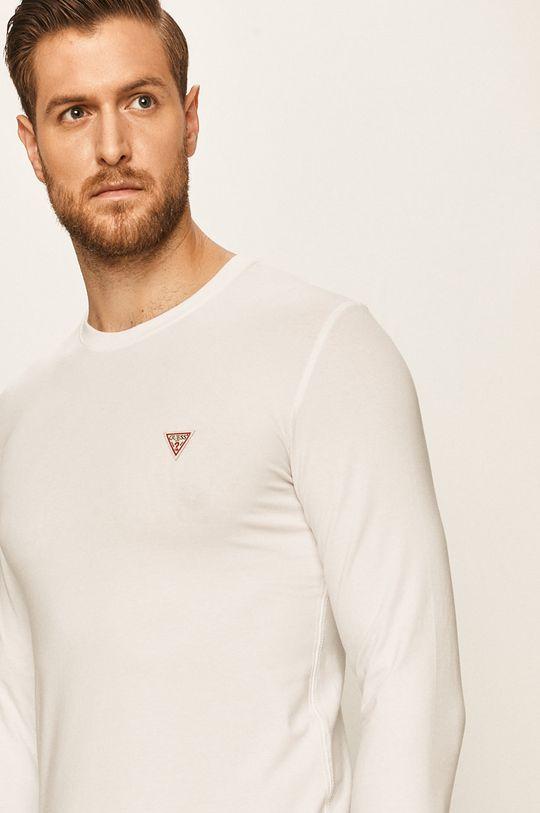 alb Guess Jeans - Longsleeve De bărbați
