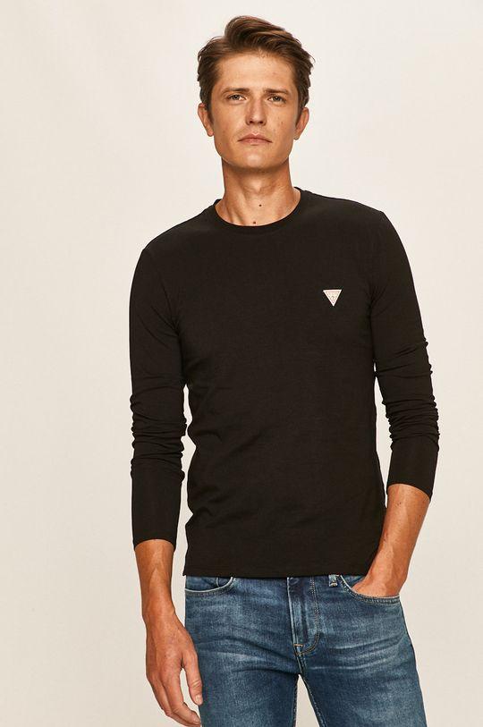 negru Guess Jeans - Longsleeve De bărbați