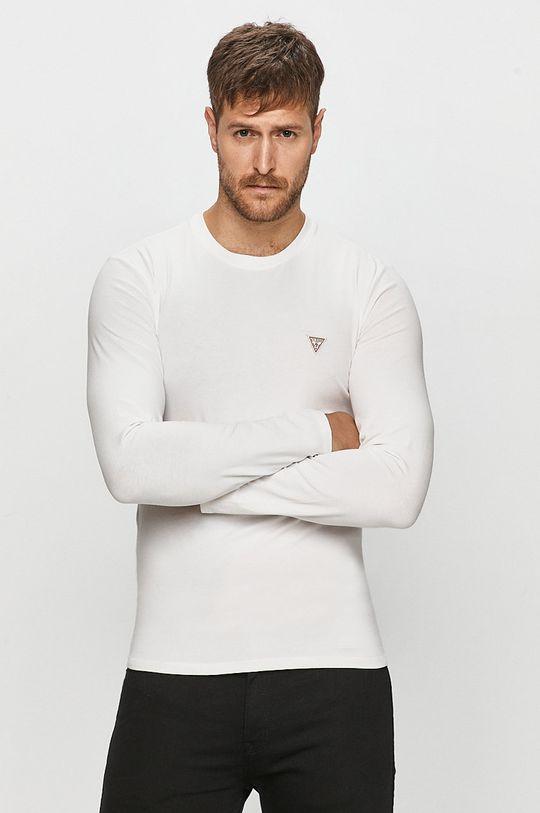 bílá Guess Jeans - Tričko s dlouhým rukávem Pánský