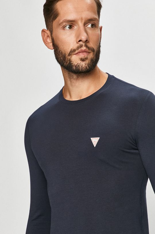 námořnická modř Guess Jeans - Tričko s dlouhým rukávem Pánský