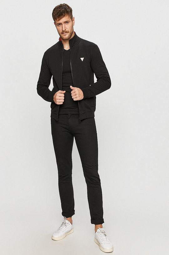 Guess Jeans - Tričko s dlouhým rukávem černá