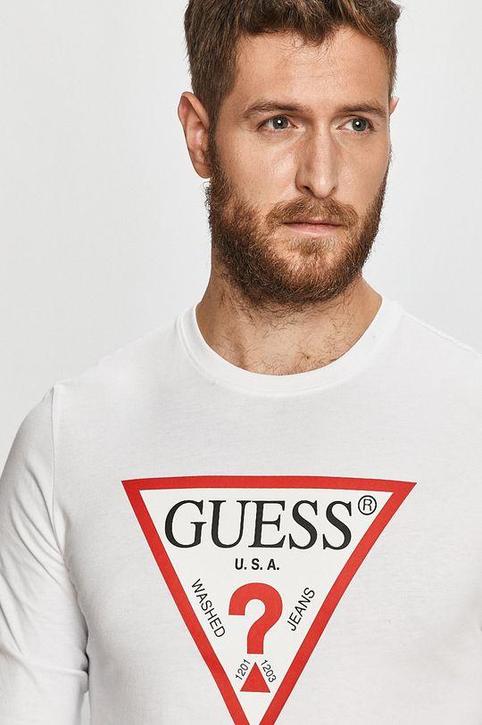 bílá Guess Jeans - Tričko s dlouhým rukávem
