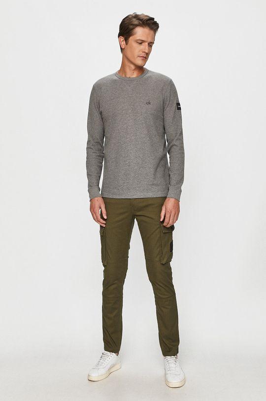 Calvin Klein - Tričko s dlouhým rukávem šedá